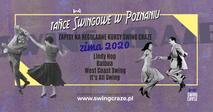 Zapisy na regularne kursy SWING CRAZE, zima 2020